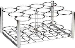 Chrome Cylinder Rack Holds 12 D Or E Cylinders